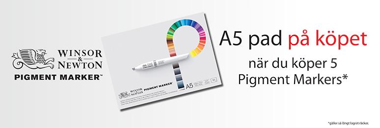 Pigmentmarker - få A5-block*!