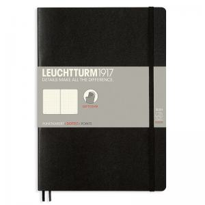 LEUCHTTURM B5 PRICKAD, BLACK