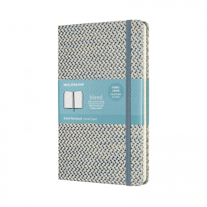MOLESKINE LIMITED COLLECTION BLEND TEXTILE NOTEBOOK LARGE BLUE