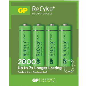 GP LADDNINGSBARA AA BATTERIER 2000 MAH 4-PACK