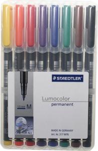 STAEDTLER LUMOCOLOR 317 MEDIUM 1,0MM 8-SET