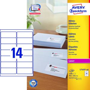 AVERY L7163 (99,1X38,1MM) 1400ST