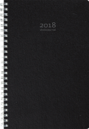 VECKOJOURNAL REFILL 2018, SVART