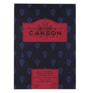 CANSON HÉRITAGE AKVARELLBLOCK,HP 26X36CM