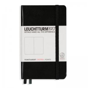 LEUCHTTURM POCKET PRICKAD, BLACK