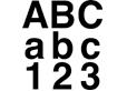 Självhäftande bokstäver & siffror