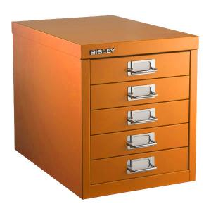BISLEY 5 LÅDOR ORANGE (LIGHT RED ORANGE)