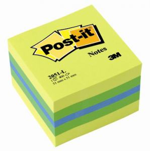 POST-IT NOTIS MINIKUB 51X51MM, LEMON