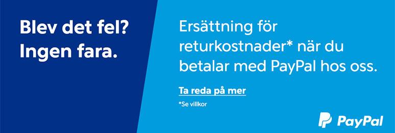 Fri retur* med Paypal!