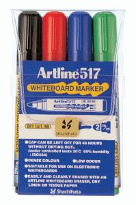 ARTLINE WHITEBOARD MARKER 517 4/FP (RUND SPETS)