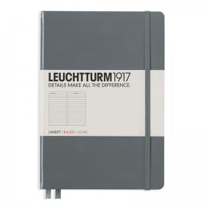 LEUCHTTURM MEDIUM LINJERAD, ANTHRACITE