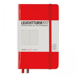 LEUCHTTURM POCKET LINJERAD, RED