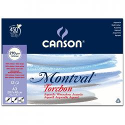CANSON AKVARELLBLOCK MONTVAL 270GRAM