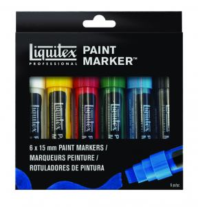LIQUITEX WIDE MARKER 6-SET GRUND