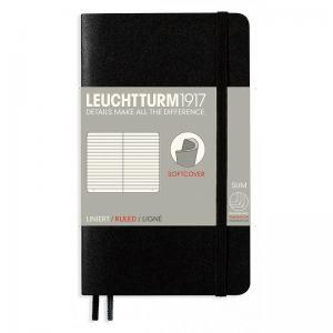 LEUCHTTURM SOFT POCKET LINJERAD, BLACK