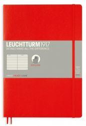 LEUCHTTURM B5 LINJERAD, RED
