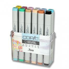 COPIC MARKER 12-SET PASTEL