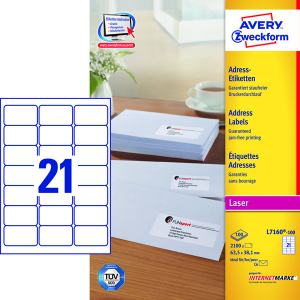 AVERY L7160 (63,5X38,1MM) 2100ST