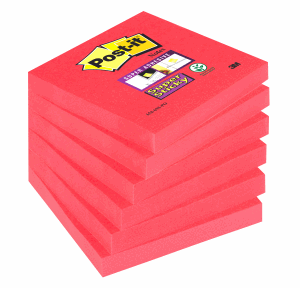 POST-IT SUPERSTICKY 76X76MM, POPPY