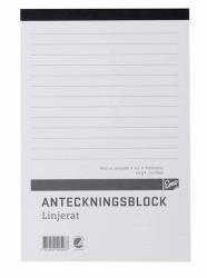 ANTECKNINGSBLOCK A5 MED LIMMAD KORTSIDA