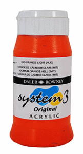 AKRYLFÄRG SYSTEM 3, CADMIUM ORANGE LIGHT 638