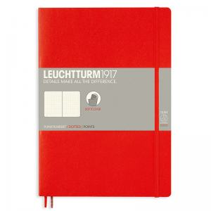 LEUCHTTURM B5 PRICKAD, RED