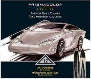PRISMACOLOR MARKER 12-SET FRENCH GREY