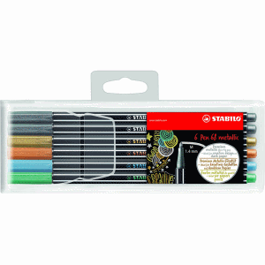 STABILO PEN 68 METALLIC 6-SET