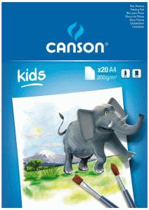 CANSON KIDS AKVARELL ELEFANT A4 200 GRAM