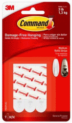 3M COMMAND MONTERINGSSTRIPS MEDIUM 1,5X7CM 10-PACK