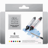 WINSOR & NEWTON WATER COLOUR MARKER 6-SET
