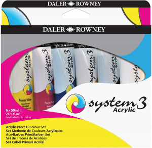 AKRYLFÄRG SYSTEM 3 6X59 ML ACRYLIC PROCESS COLOR-SET