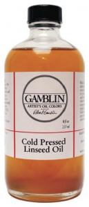 GAMBLIN 4 OZ COLD PRESSED LINSEED OIL