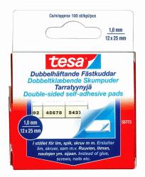TESA DUBBELHÄFTANDE FÄSTKUDDAR, 100-PACK