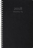 WEEKLY A5, REFILL 2018 SVART