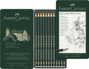 FABER CASTELL 9000 BLYERTSPENNA, 12-SET