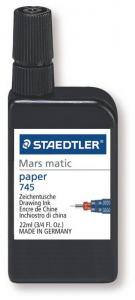STAEDTLER MARS MATIC 745 TUSCH SVART - PAPPER
