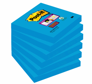 POST-IT SUPERSTICKY 76X76MM, BLUE