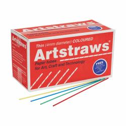 ARTSTRAWS PAPPERSRÖR TUNN, BLANDADE FÄRGER 450 ST
