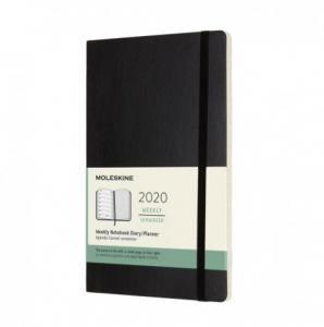 MOLESKINE WEEKLY DIARY/PLANNER SOFT COVER LARGE 2020