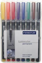 STAEDTLER LUMOCOLOR 313 SMALL 0,4MM 8-SET