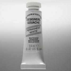 WINSOR & NEWTON DESIGNERS GOUACHE 37ML PERMANENT WHITE 512