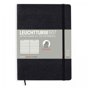 LEUCHTTURM SOFT MEDIUM LINJERAD, BLACK