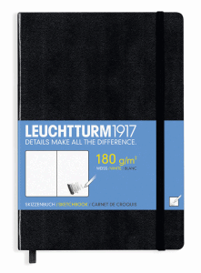 LEUCHTTURM SKETCH MEDIUM, BLACK