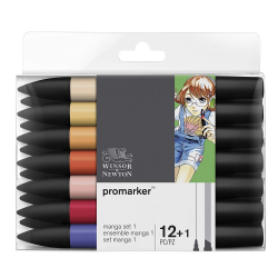 WINSOR & NEWTON PROMARKER 12-SET MANGA EXPANSION SET 1
