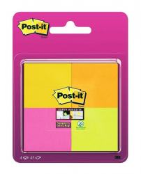 POST-IT 4-FÄRGER 47,6X47,6MM, 4 ST/FRP
