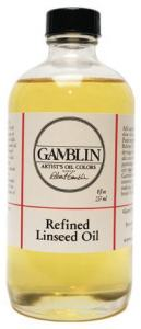 GAMBLIN 8 OZ. REFINED LINSEED OIL