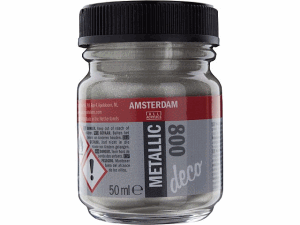 AMSTERDAM METALLIC DECO 50ML SILVER 800