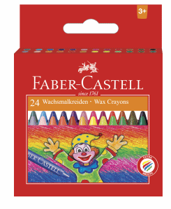 FABER CASTELL VAXKRITA, 24-SET