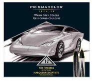 PRISMACOLOR MARKER 12-SET WARM GREY